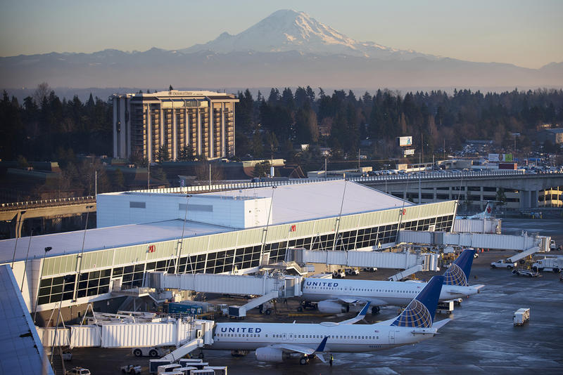 Seattle-Tacoma International Airport and Mt. Rainier