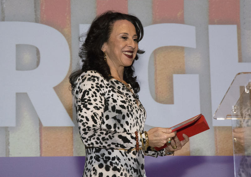 Journalist Maria Hinojosa at UW's Kane Hall