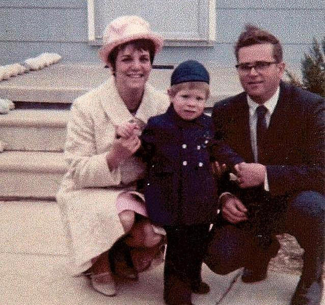 "Future poet Kevin Craft with his parents, circa 1968. His poem ""Matinee"" explores the effects of feminism on his mother, himself, and his parents' marriage."