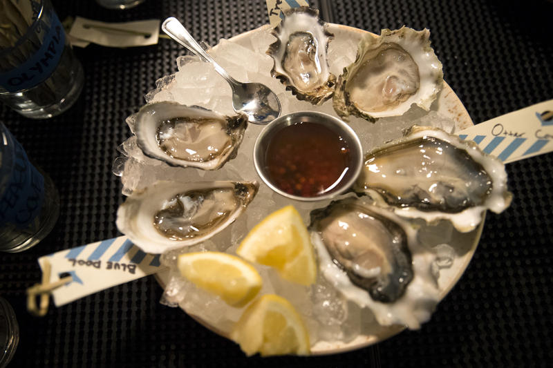 An oyster tray at Seattle restaurant Westward.