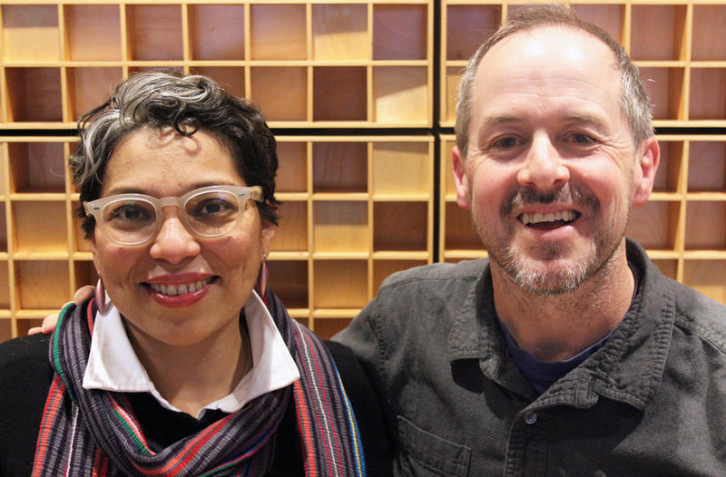 Washington state poets laureate Claudia Castro Luna and Tod Marshall.