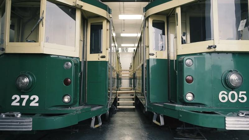 The Benson Trolleys, in storage