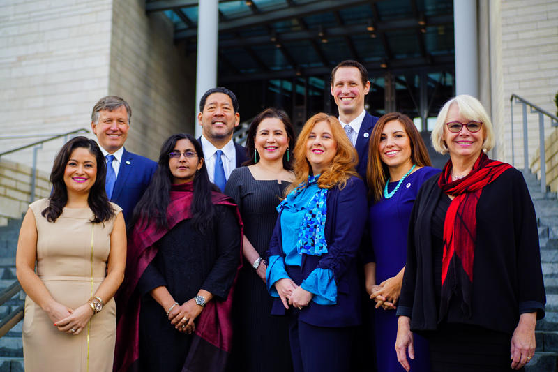 Seattle's 2018-19 City Council includes two council members who represent the entire city, and seven who represent a specific district.