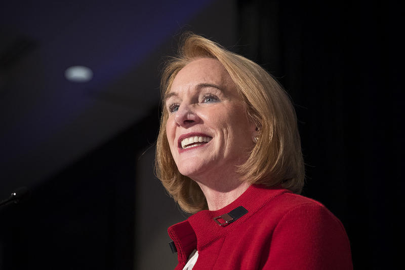 Jenny Durkan at her election night party on Tuesday, Nov. 9, 2017