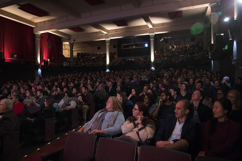 'That's Debatable' audience at the SIFF Cinema Egyptian, Wednesday, March 7, 2018, in Seattle.