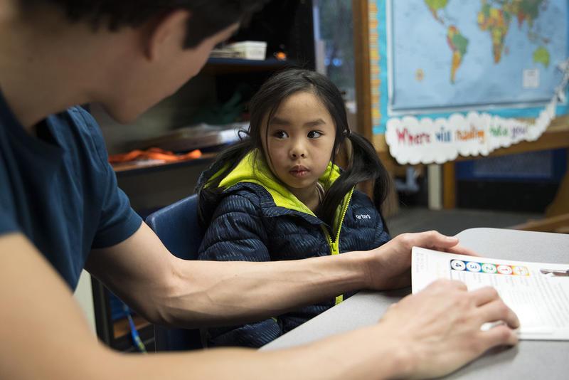 Sanislo Elementary School kindergarten student Elizabeth Riff.