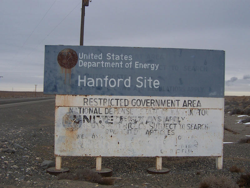 A government sign at the Hanford Nuclear Reservation