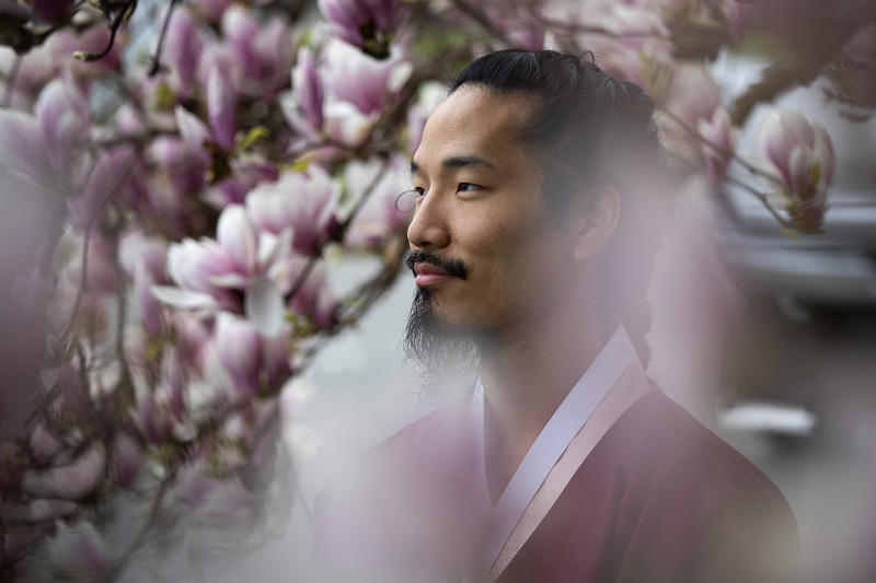 Che Sehyun poses for a portrait on Wednesday, March 28, 2018, near his home in Renton.