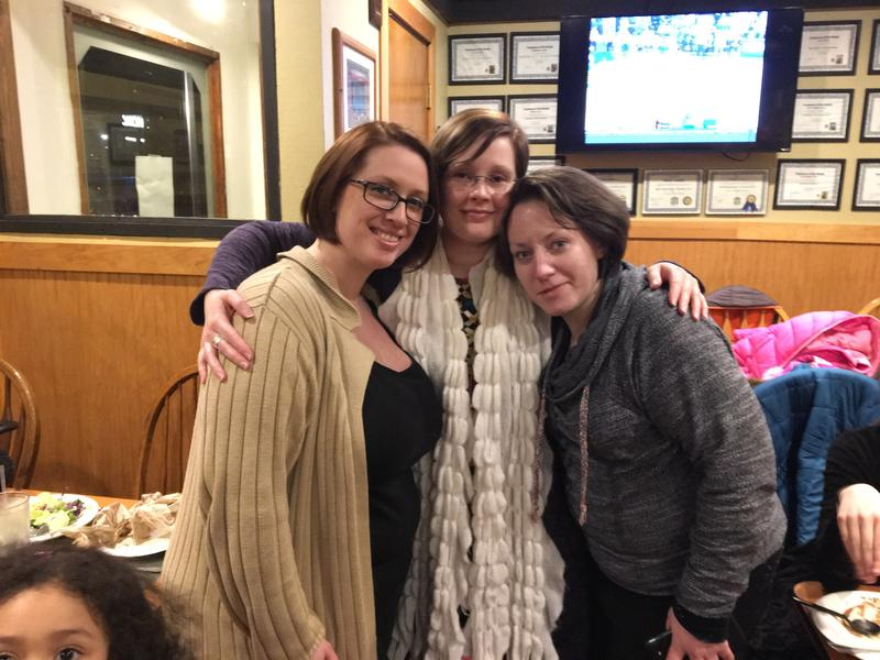Sabrina Tate with her sisters Jennifer and Amber. This photo was taken during her last visit to Spokane, just five weeks before her death.