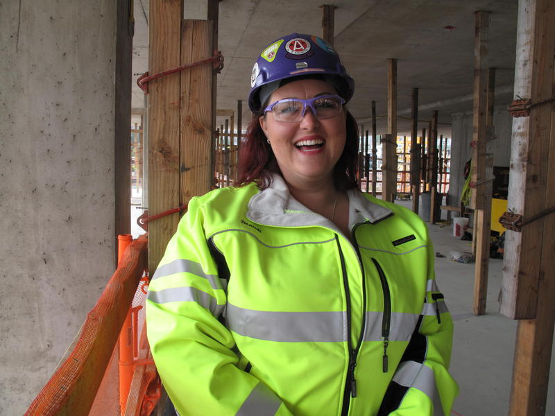 Mandi Kime, safety services director of the Associated General Contractors, audits construction sites around the region for safety.