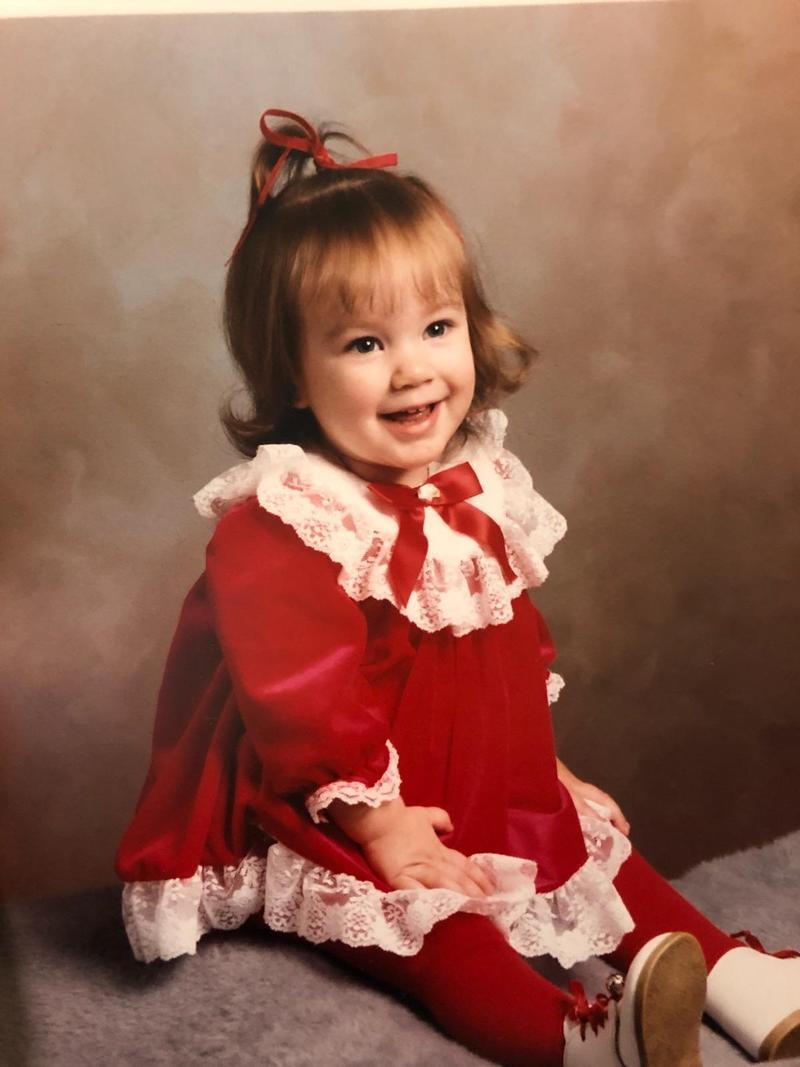 Sabrina Tate as a child.