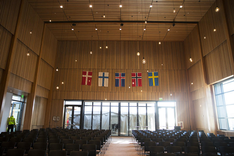 The Osberg Great Hall is shown on Wednesday, May 2, 2018, at the new Nordic Museum in Seattle.