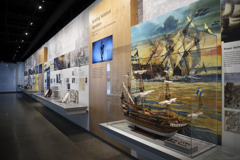 The Nordic Region Gallery is on display on Wednesday, May 2, 2018, at the new Nordic Museum in Seattle.