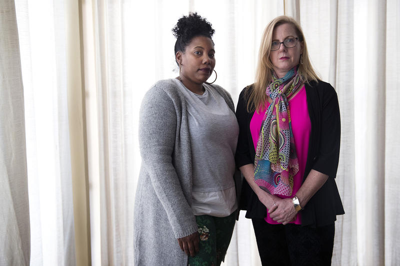 Gena Bacani (left) and Shannon Harney hope Starbucks' staff training on racial diversity can spare others what happened to them.