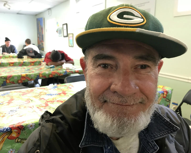 Joe Camacho at breakfast with the St. Luke's Church