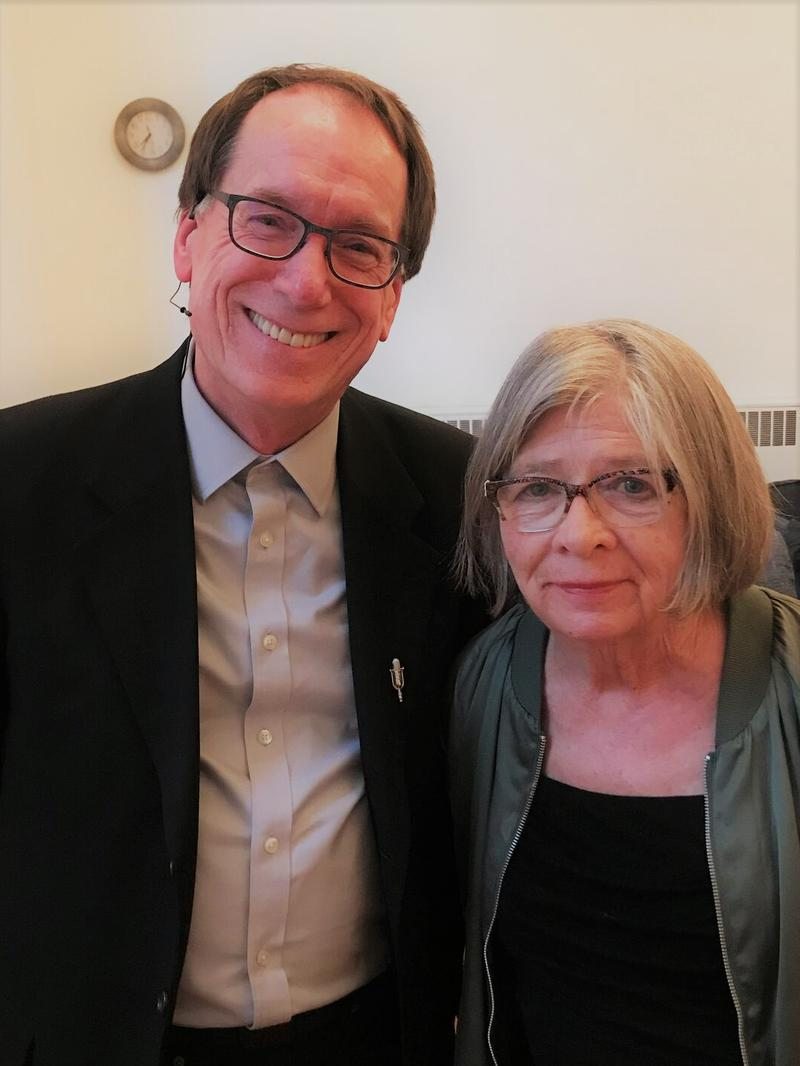 KUOW's Ross Reynolds and Barbara Ehrenreich at Seattle First Baptist Church