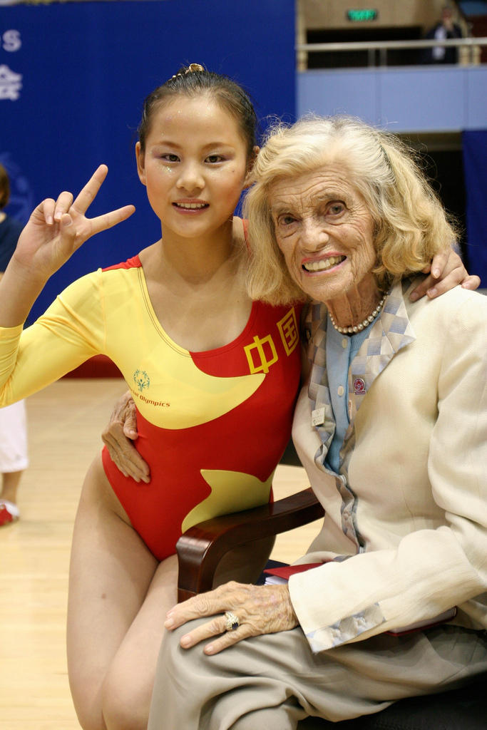 Eunice Kennedy Shriver at the 2007 World Summer Games in Shanghai