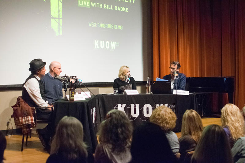 The Week In Review panel on stage at the Bainbridge Island Museum of Art