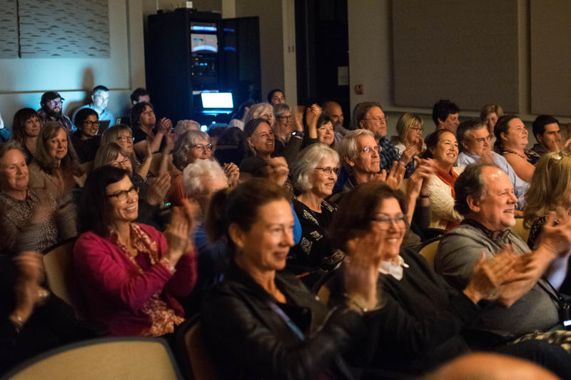 The audience for Week In Review on Bainbridge Island.