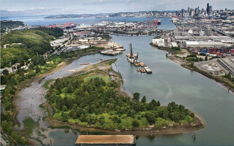 The lower Duwamish valley.
