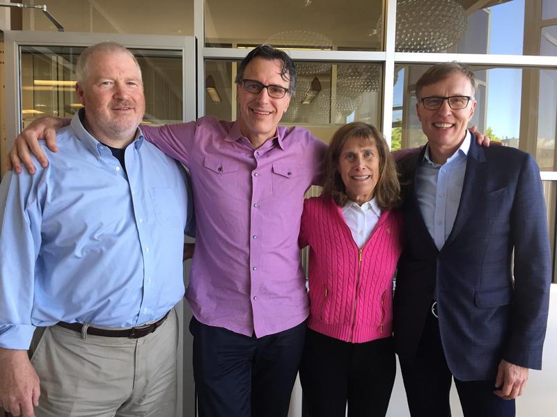 Mike McGinn, Bill Radke, Joni Balter, and Rob McKenna at KUOW