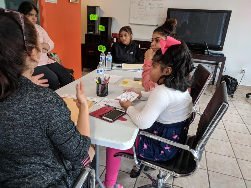 Rocio Arriaga teaches kids and young people about business to try and mitigate the impacts of gentrification.
