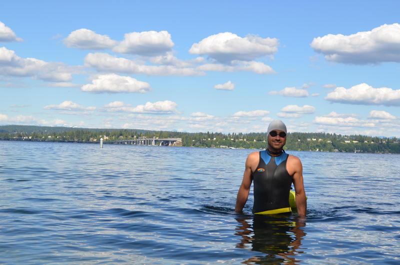 Jackson Ludwig loves to swim in Washington lakes.