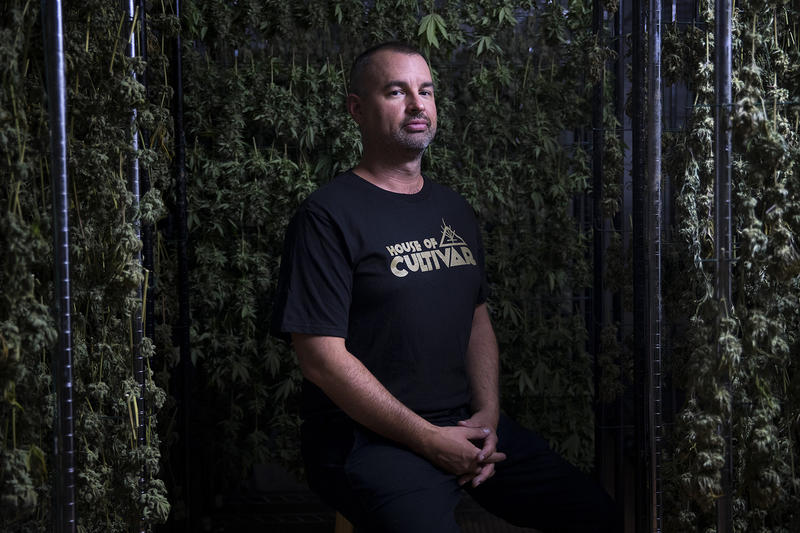 Jason Hutto, Founder and CEO of House of Cultivar, poses for a portrait on Wednesday, July 18, 2018, at House of Cultivar in Seattle.