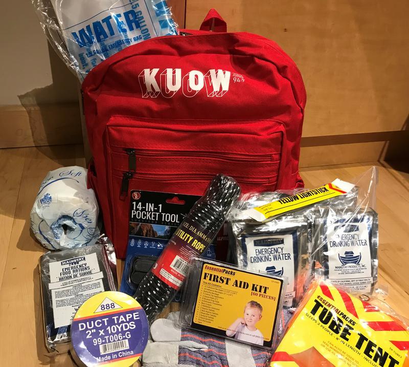 KUOW earthquake kit.