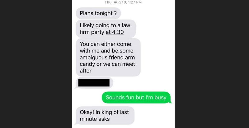 A text message from state Rep. David Sawyer to a legislative lobbyist.