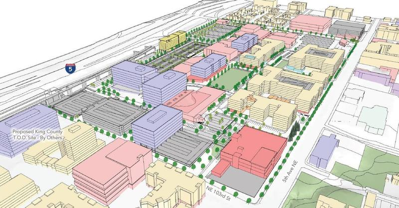 What the transformed Northgate Mall could look like, at least according to architects. This is the view from the southeast.
