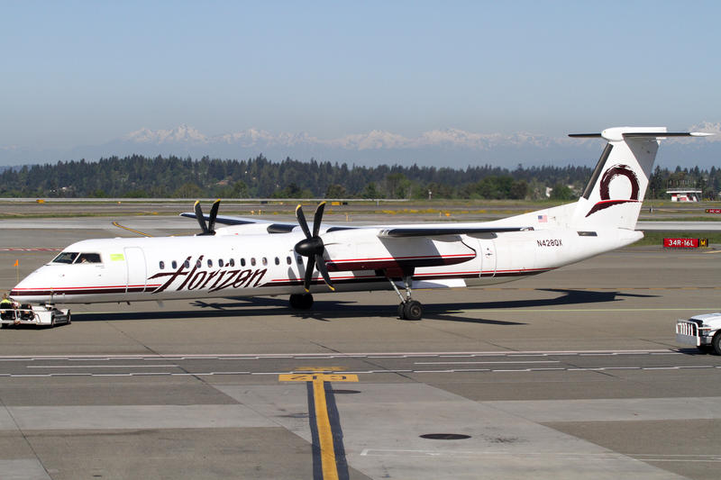 FILE: A Horizon Air Bombardier DHC8-Q400 at Sea-Tac Airport.