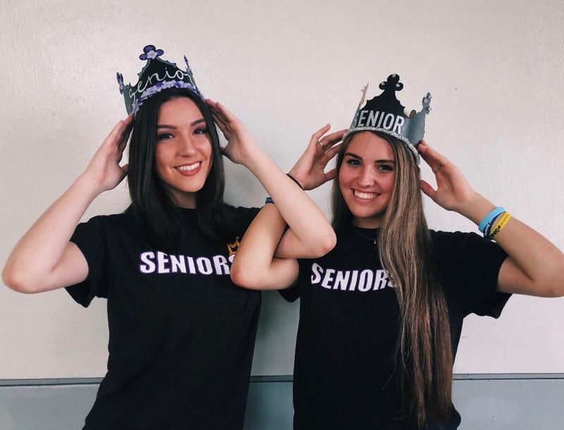 Kaylee Nezwek (left) with Danielle Gilbert (right), ready for senior year at Marjory Stoneman Douglas High School.