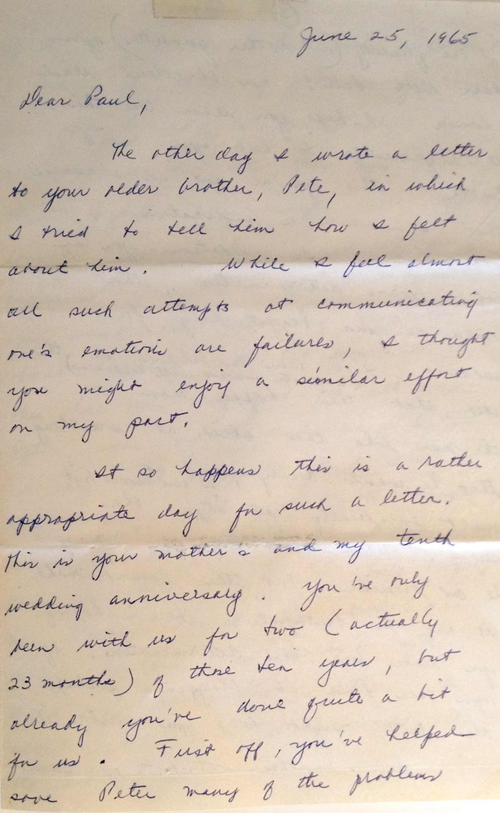 this letter from paul stetlers father inspired his own epistle to his son which also led to the play dear dad