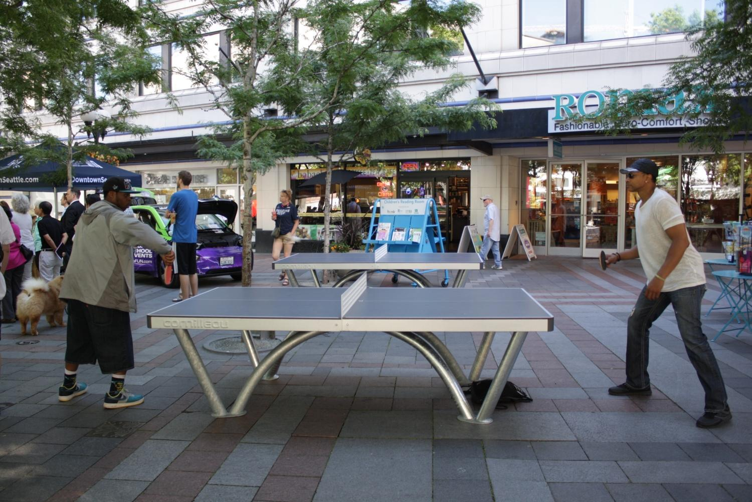 The Ping Pong Tables At Westlake Park Feature Robust Metal Legs. An Earlier  Iteration With Flimsy Legs Didnu0027t Stand Up So Well When People Tried To  Sleep On ...