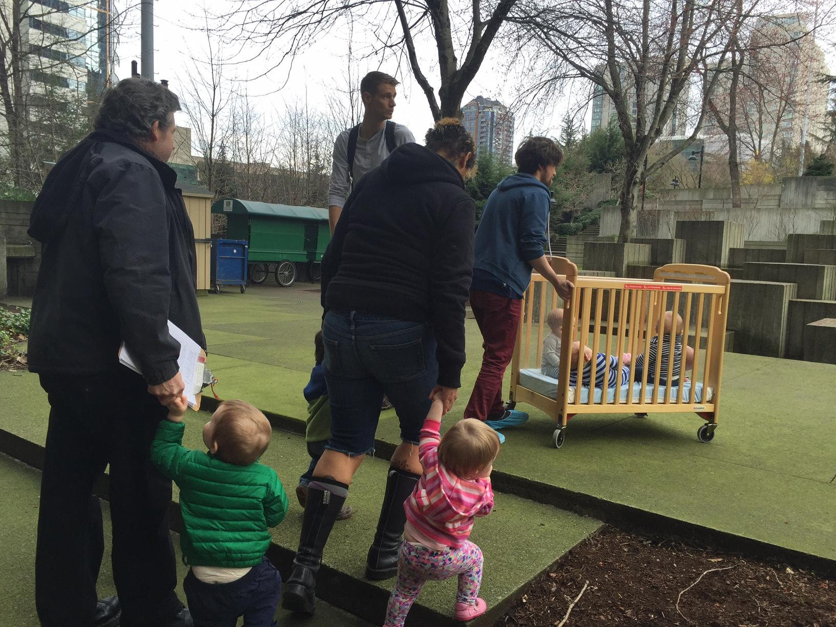 Baby cribs for daycare centers - Babies Are Led Or Wheeled Outside During The Monthly Fire Drill At Green Tree Early Learning Center In Seattle