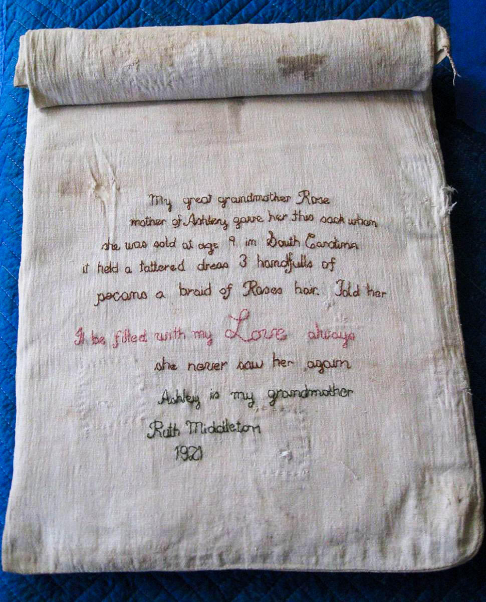 A slave mother's love in 56 carefully stitched words