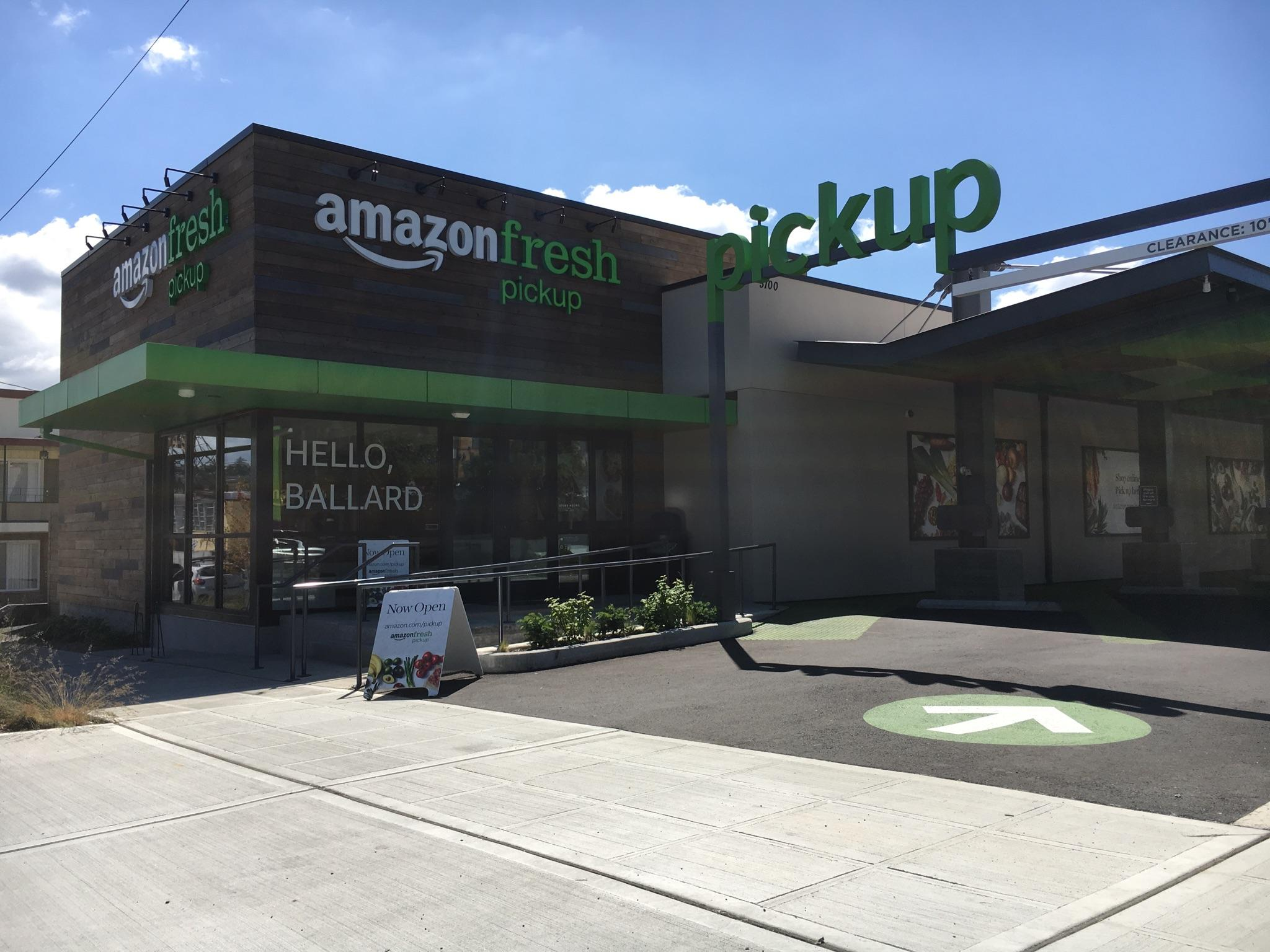 what amazonfresh means for traditional grocery stores kuow news the amazonfresh pickup site in ballard