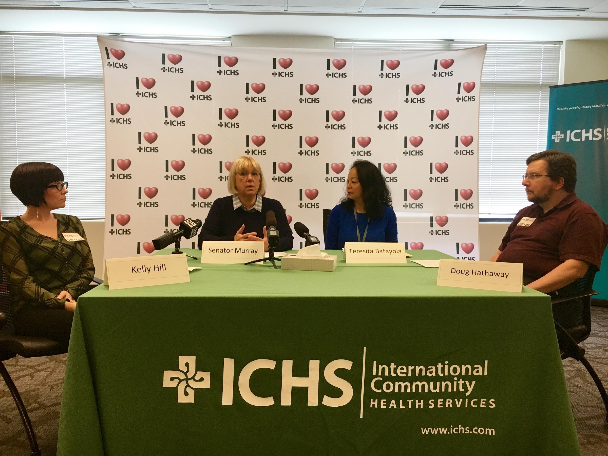 Democratic Washington Senator Patty Murray at International Community Health Services in Seattle