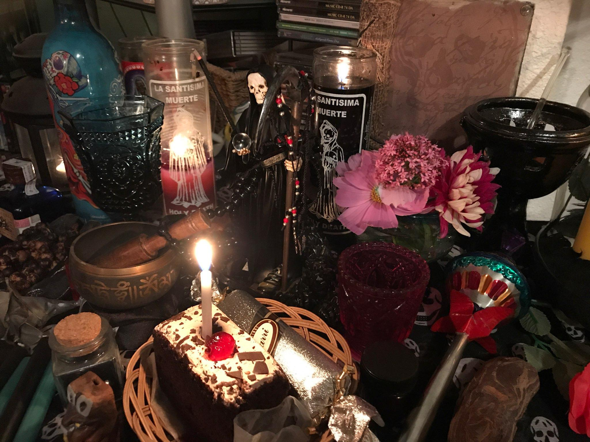 An Altar At The Occult Bookstore, Edge Of The Circle Books, In The  University District.