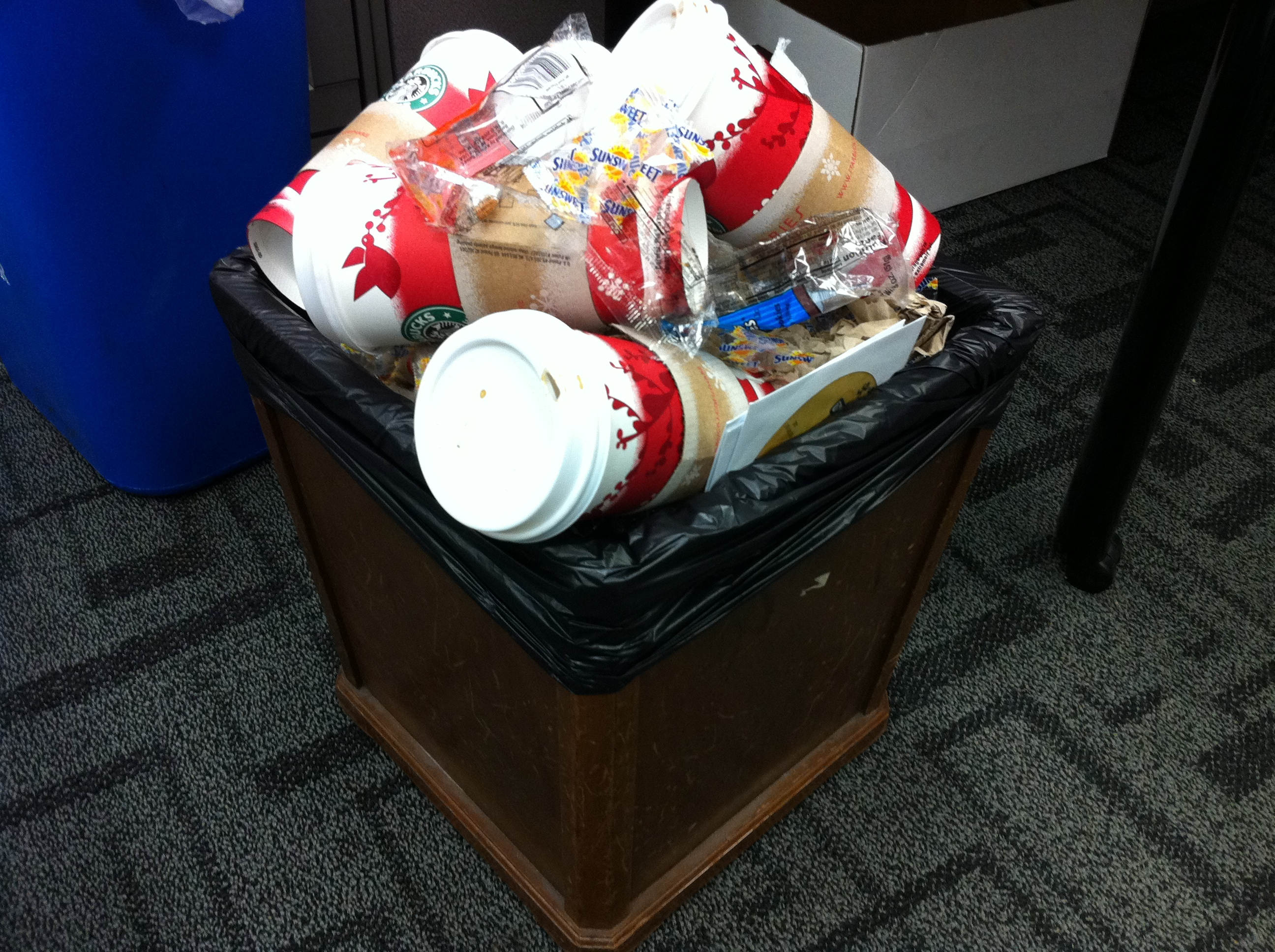 Many Office Trash Cans At Ut Are Starting To Look Like
