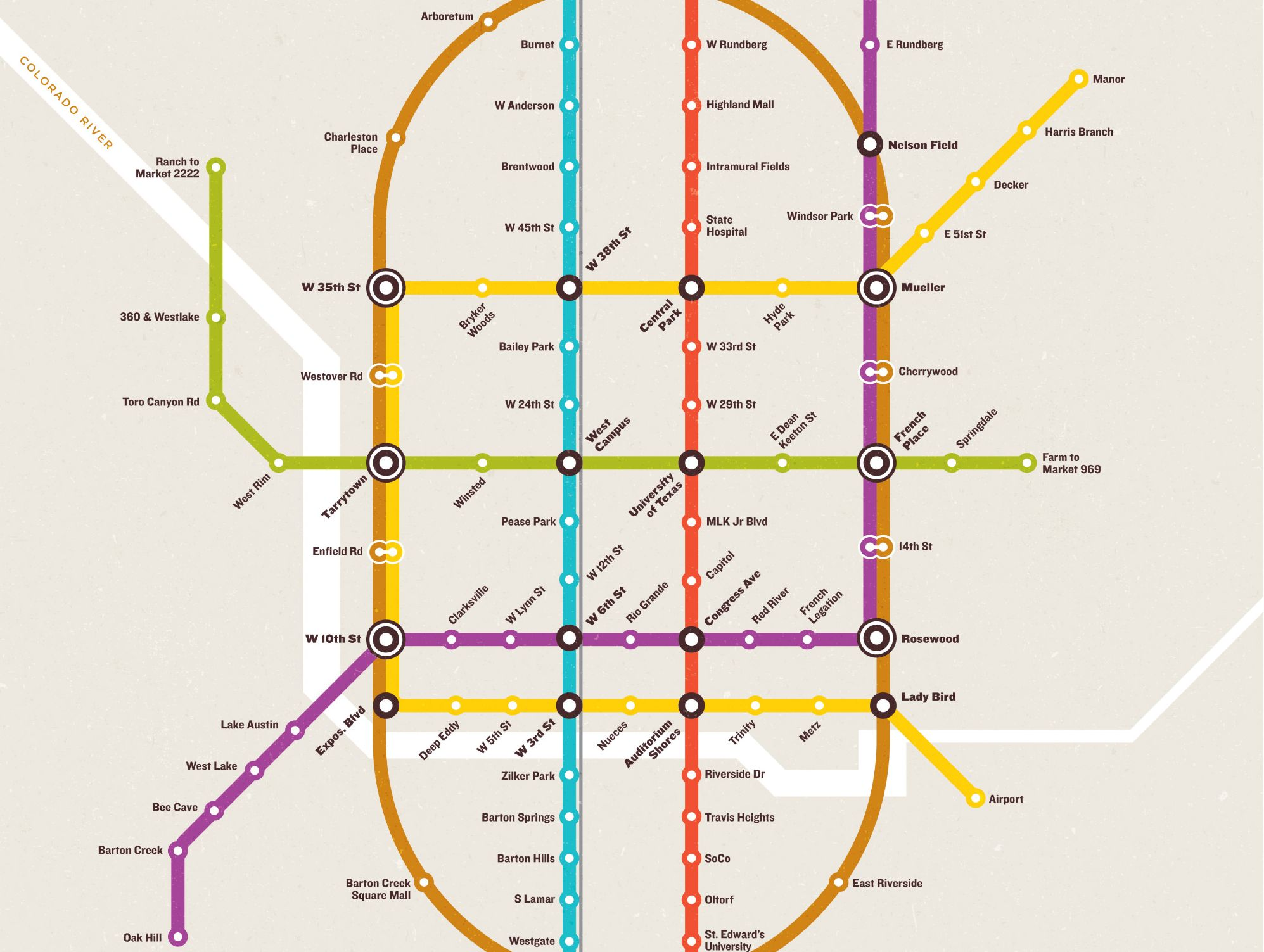 Why Cant Austin Have This Elaborate Subway System KUT - Austin metro area map