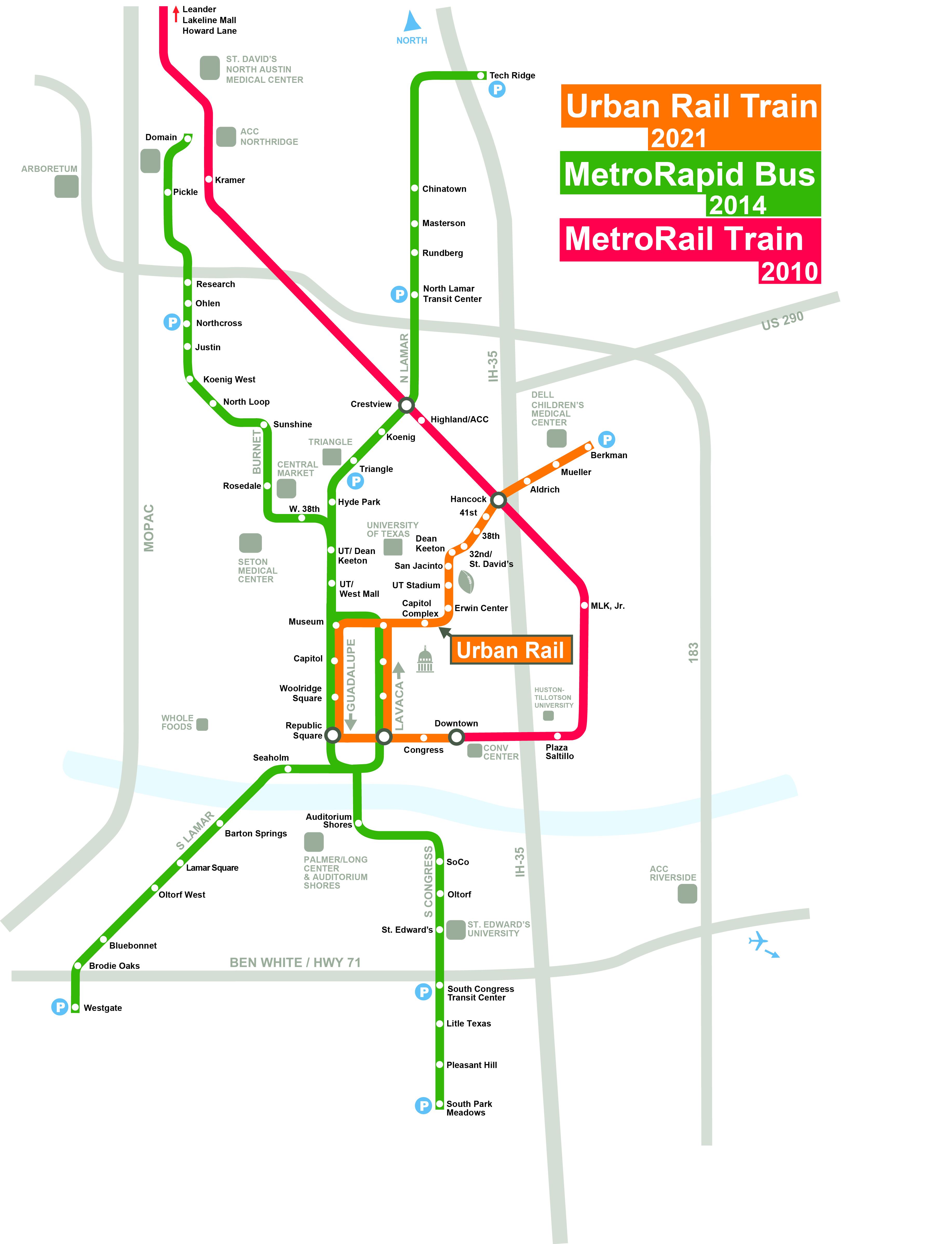 Austin Urban Rail In 7 Maps  KUT