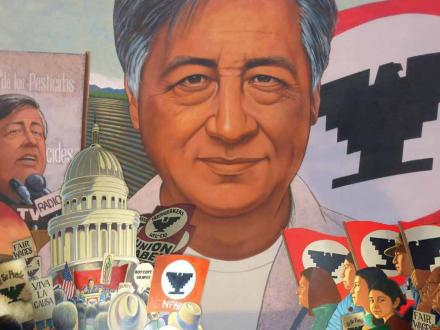 Bsu earthview earthview institute march 31 for Cesar chavez mural
