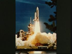 Shuttle Blasts Off