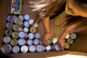 Capital Area Food Bank cans