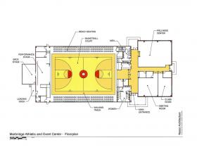 Marbridge Victory Hall Athletic and Events Center floor plan