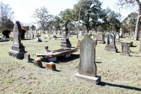 Gravesites at Oakwood Cemetery in East Austin.