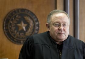 Judge John Dietz in his courtroom before he ruled that school finance system unconstitutional on February 4th, 2013.