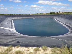 Alamaro planned to test his monolayer system on this reservoir owned by the Lakeway Municipal Utility District.